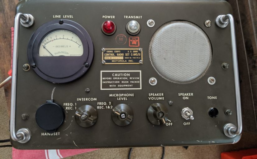 The Idiot repurposed an old Army Radio